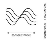 wavy sound lines linear icon.... | Shutterstock .eps vector #1457029928