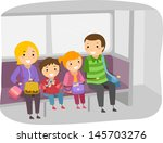 illustration of stickman family ... | Shutterstock .eps vector #145703276