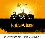 vector halloween party poster... | Shutterstock .eps vector #1457036858