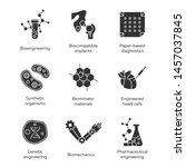 bioengineering glyph icons set. ...   Shutterstock .eps vector #1457037845