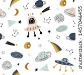childish seamless pattern with... | Shutterstock .eps vector #1457046455