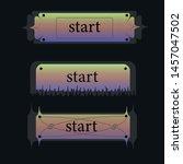 vector buttons set in halloween ... | Shutterstock .eps vector #1457047502