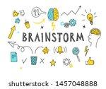 brainstorm doodle elements big...   Shutterstock .eps vector #1457048888