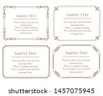 vector set of vintage elements... | Shutterstock .eps vector #1457075945
