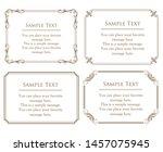 vector set of vintage elements... | Shutterstock .eps vector #1457075945