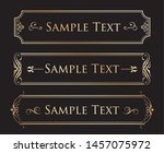 vector set of vintage elements... | Shutterstock .eps vector #1457075972