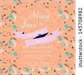 wedding invitation card | Shutterstock .eps vector #145708982