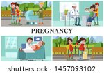 flat maternity and pregnancy... | Shutterstock .eps vector #1457093102