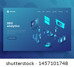 seo analytics office people... | Shutterstock .eps vector #1457101748