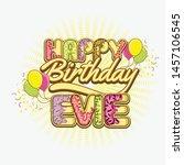 happy birthday greetings for... | Shutterstock .eps vector #1457106545