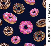 seamless pattern with yummy... | Shutterstock .eps vector #1457110802