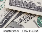 texture of dollar bills. one... | Shutterstock . vector #1457113355