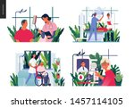 set of medical insurance... | Shutterstock .eps vector #1457114105
