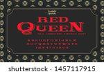 retro alphabet font. serif type ... | Shutterstock .eps vector #1457117915