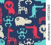 african animal seamless... | Shutterstock .eps vector #145713365