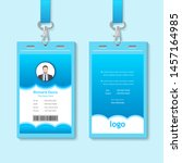 creative id card template with... | Shutterstock .eps vector #1457164985