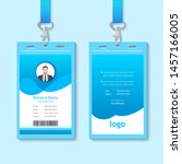 creative id card template with... | Shutterstock .eps vector #1457166005