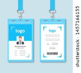 creative id card template with... | Shutterstock .eps vector #1457166155