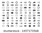 black arrows big set. direction ...   Shutterstock .eps vector #1457173568