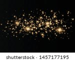 the dust sparks and golden... | Shutterstock .eps vector #1457177195