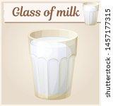 glass of milk cartoon... | Shutterstock .eps vector #1457177315