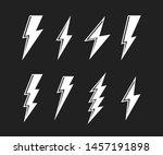super set lightning bolt....   Shutterstock .eps vector #1457191898