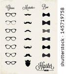 hipster vector design set | Shutterstock .eps vector #145719758