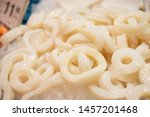 Small photo of squid rings sold on fish and seafood market