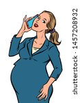 Pregnant Businesswoman Talking...