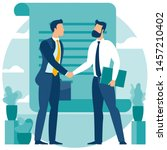 business   people  shake hands... | Shutterstock .eps vector #1457210402