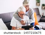 couple of seniors smiling and...   Shutterstock . vector #1457210675