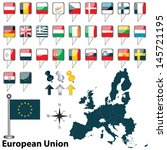 vector of european union with... | Shutterstock .eps vector #145721195