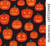 seamless pattern of creepy... | Shutterstock .eps vector #1457219468