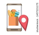 online food order from...   Shutterstock .eps vector #1457221175