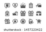 gift icons. present  special... | Shutterstock .eps vector #1457223422