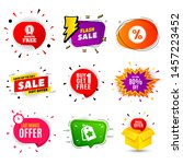 get extra 80  off sale. banner... | Shutterstock .eps vector #1457223452