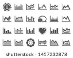 financial chart icons. set of... | Shutterstock .eps vector #1457232878