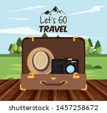 travel journey and tourism with ... | Shutterstock .eps vector #1457258672