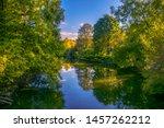 Amazing lake in the Arboretum. Ataturk Arboretum Botanic Park in Istanbul