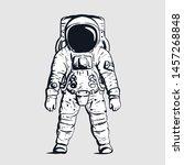 astronaut on isolated...   Shutterstock .eps vector #1457268848