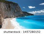 porto katsiki beach in lefkada... | Shutterstock . vector #1457280152