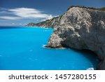 beautiful turquoise sea on the... | Shutterstock . vector #1457280155