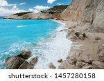 porto katsiki beach coast on... | Shutterstock . vector #1457280158