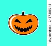 halloween pumpkin. vector... | Shutterstock .eps vector #1457305148