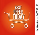 shopping cart on a bright...   Shutterstock .eps vector #145732112