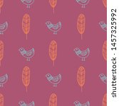 seamless pattern print with... | Shutterstock . vector #1457325992