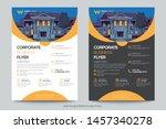corporate business flyer poster ... | Shutterstock .eps vector #1457340278