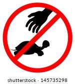 no take animals | Shutterstock .eps vector #145735298
