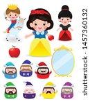 snow white and the seven dwarfs ...   Shutterstock .eps vector #1457360132