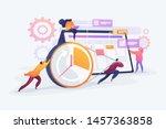 workflow organization. teamwork ... | Shutterstock .eps vector #1457363858